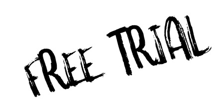 Free Trial rubber stamp. Grunge design with dust scratches. Effects can be easily removed for a clean, crisp look. Color is easily changed.