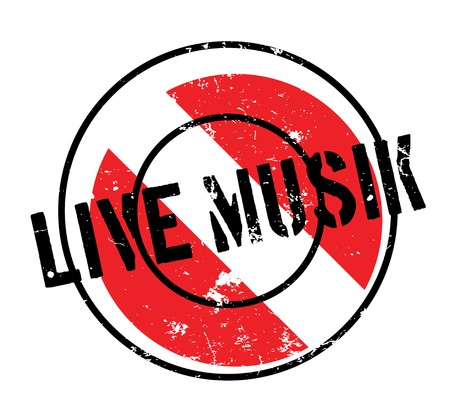 Live Musik rubber stamp, Grunge design with dust scratches can be easily removed for a clean, crisp look. Color is easily changed.
