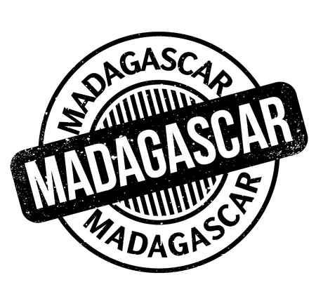 Madagascar rubber stamp. Grunge design with dust scratches. Effects can be easily removed for a clean, crisp look. Color is easily changed. Ilustração