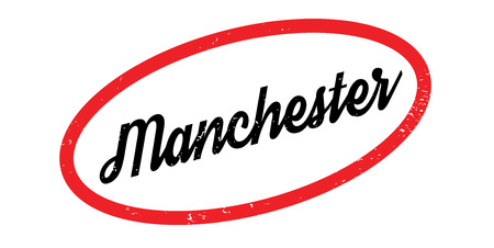 Manchester rubber stamp. Grunge design with dust scratches. Effects can be easily removed for a clean, crisp look. Color is easily changed.
