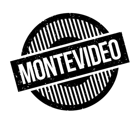 Montevideo rubber stamp. Grunge design with dust scratches. Effects can be easily removed for a clean, crisp look. Color is easily changed.