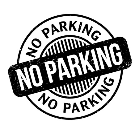 No Parking rubber stamp. Grunge design with dust scratches. Effects can be easily removed for a clean, crisp look. Color is easily changed. Vettoriali