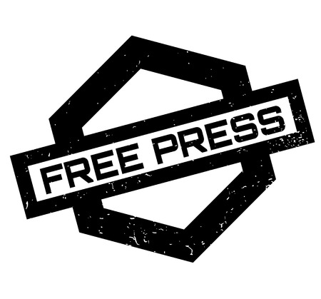 Free Press rubber stamp. Grunge design with dust scratches. Effects can be easily removed for a clean, crisp look. Color is easily changed. Vectores