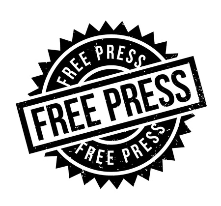 Free Press rubber stamp. Grunge design with dust scratches. Effects can be easily removed for a clean.