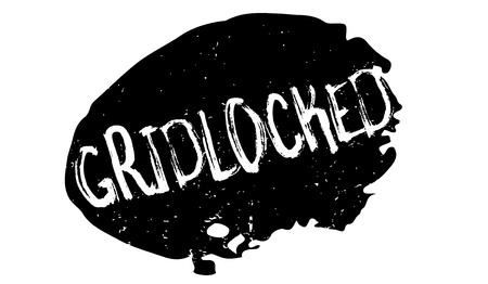 Gridlocked rubber stamp. Grunge design with dust scratches. Effects can be easily removed for a clean, crisp look. Color is easily changed. Çizim