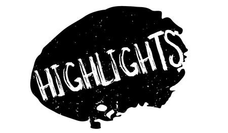 Highlights rubber stamp. Grunge design with dust scratches.