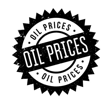 Oil Prices rubber stamp. Grunge design with dust scratches. Illustration