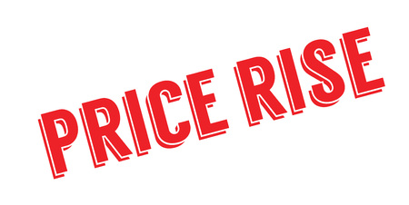 Price Rise rubber stamp. Grunge design with dust scratches. Vectores