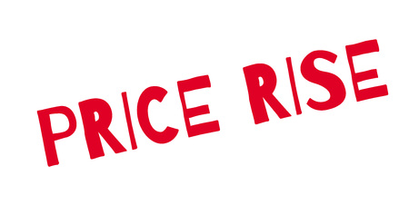 Price Rise rubber stamp. Grunge design with dust scratches. Ilustração
