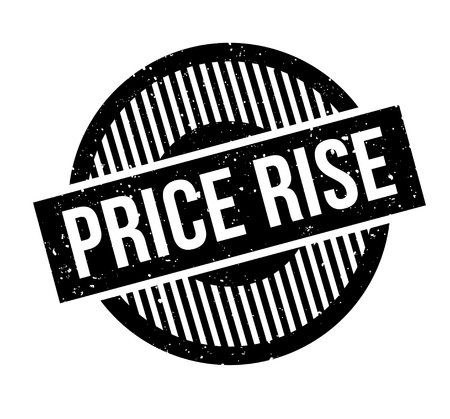 Price Rise rubber stamp. Grunge design with dust scratches. Effects can be easily removed for a clean, crisp look. Color is easily changed. 写真素材 - 95795956
