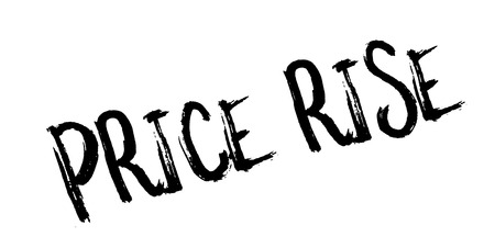 Price Rise rubber stamp. Grunge design with dust scratches. Illustration