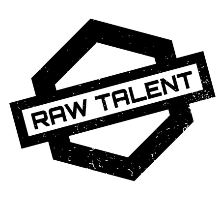 Raw Talent rubber stamp. Grunge design with dust scratches. Effects can be easily removed for a clean, crisp look. Color is easily changed.