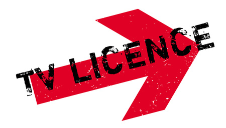 TV Licence rubber stamp. Grunge design with dust scratches.