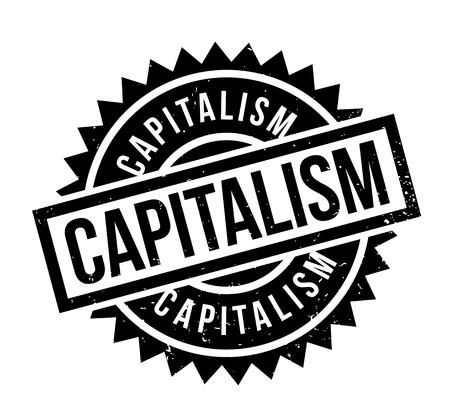 Timbre en caoutchouc du capitalisme. Conception grunge avec rayures de poussière. Les effets peuvent être facilement supprimés pour un look net et net. La couleur est facilement changée.