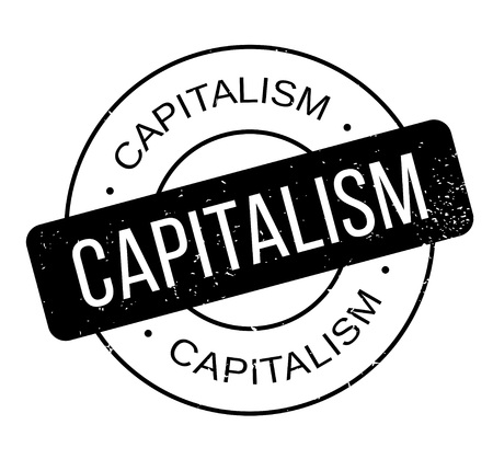 Capitalism rubber stamp. Grunge design with dust scratches. Effects can be easily removed for a clean, crisp look. Color is easily changed.