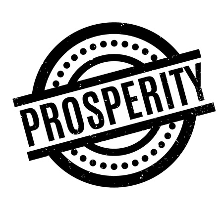 Prosperity rubber stamp. Grunge design with dust scratches. Effects can be easily removed for a clean, crisp look. Color is easily changed. Illustration