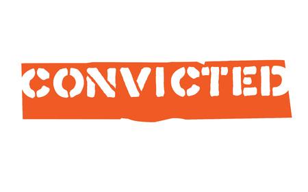 Convicted. Typographic stamp visualization concept original series.