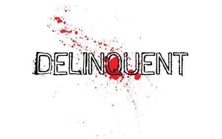 Delinquent. Typographic stamp visualization concept original series. Illustration