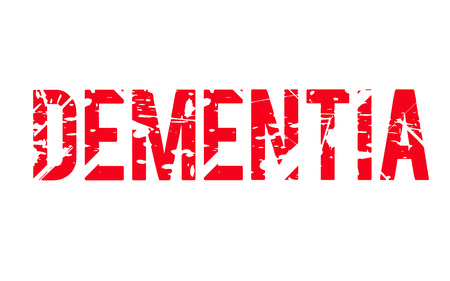 Dementia. Typographic stamp visualization concept original series.