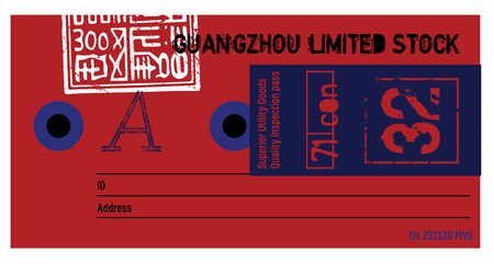 Guangzhou limited stock clothing tag, for retail business, denim or other product.