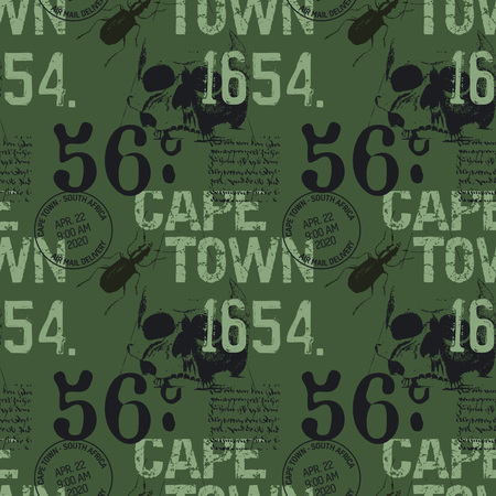 Cape town abstract vintage design pattern, for print and media.