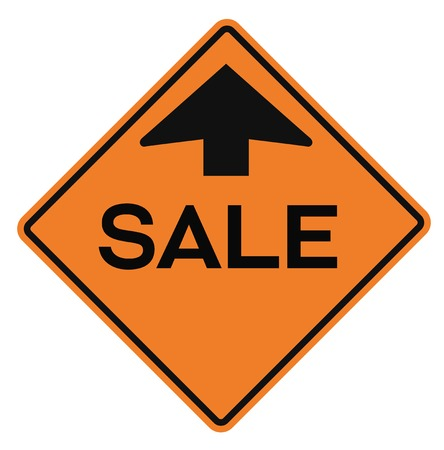 Sale attention plate. Road sign design for retail business poster. Stockfoto - 95953851