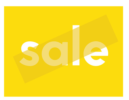 Sale typographic poster. Design for retail business, print and web.
