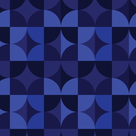 Circle square illusion seamless pattern. For print, fashion design, wrapping, wallpaper Illustration