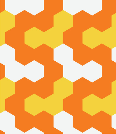 Irregular hexagon seamless pattern. For print, fashion design, wrapping wallpaper