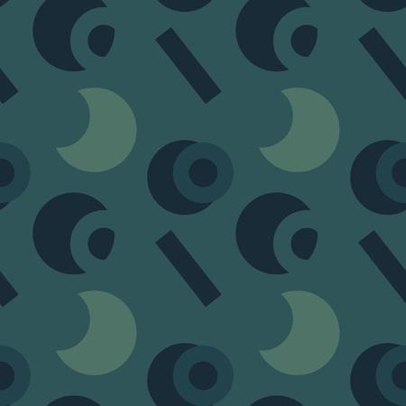 Basic vivid shapes seamless pattern for print, fashion design, wrapping, wallpaper.