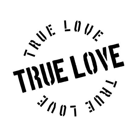 True Love rubber stamp. Grunge design with dust scratches. Effects can be easily removed for a clean, crisp look. Color is easily changed.