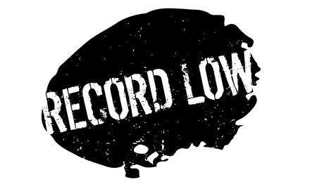 Record Low rubber stamp. Grunge design with dust scratches. Effects can be easily removed for a clean, crisp look. Color is easily changed.