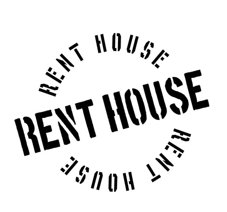 Rent House rubber stamp. Grunge design with dust scratches. Effects can be easily removed for a clean, crisp look. Color is easily changed.