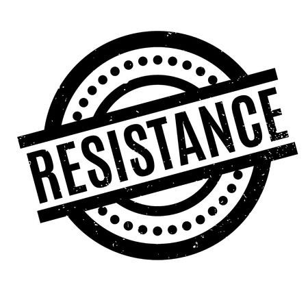 Resistance rubber stamp. Grunge design with dust scratches. Effects can be easily removed for a clean, crisp look. Color is easily changed.