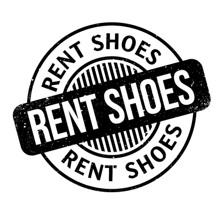 Rent Shoes rubber stamp. Grunge design with dust scratches. Effects can be easily removed for a clean, crisp look. Color is easily changed.