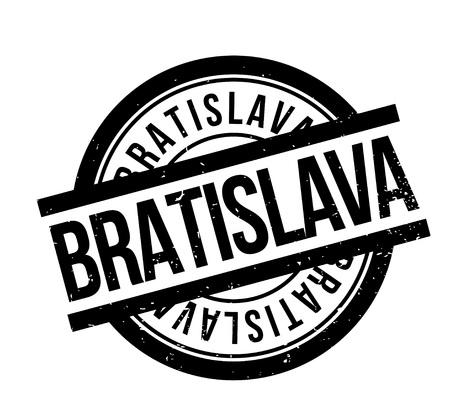 Bratislava rubber stamp. Grunge design with dust scratches.