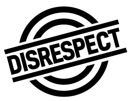 DISRESPECT stamp. Typographic label, stamp Vettoriali