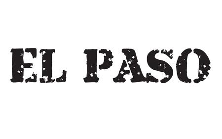 Sello de El Paso Etiqueta tipográfica, icono de sello Ilustración de vector