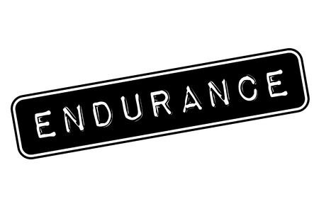 Endurance stamp. Typographic label, stamp or icon