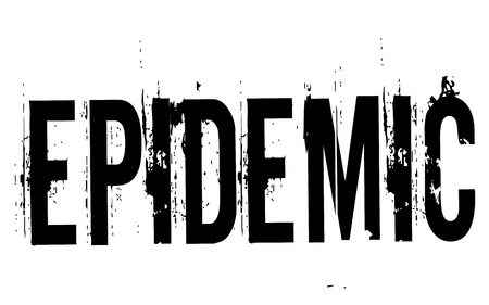 Epidemic stamp. Typographic label, stamp or icon