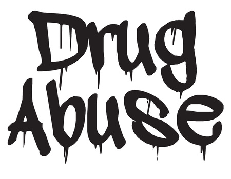Drug Abuse stamp. Typographic label, stamp or icon