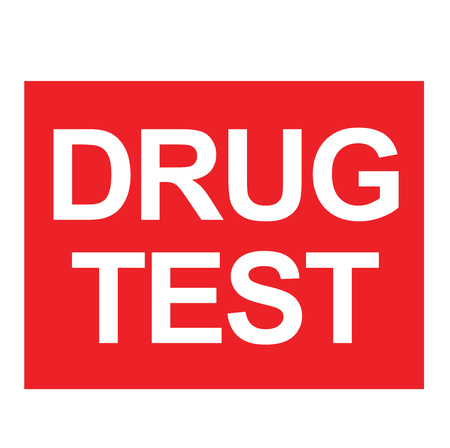 Drug Test stamp. Typographic label, stamp or icon