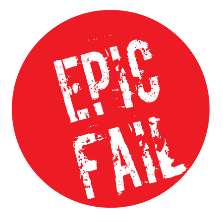 Epic Fail stamp. Typographic label, stamp or icon Çizim