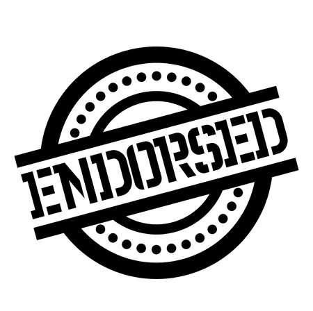 Endorsed stamp. Typographic label, stamp or icon