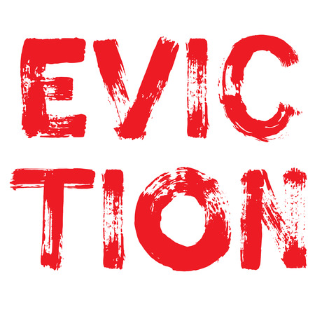 Eviction stamp. Typographic label, stamp or icon Иллюстрация