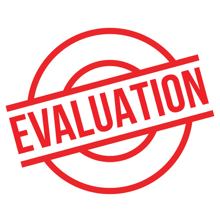 Evaluation stamp. Typographic label, stamp or icon