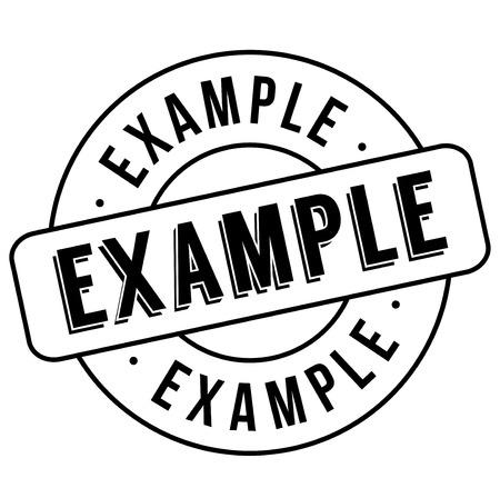 Example stamp. Typographic label, stamp or icon Ilustração
