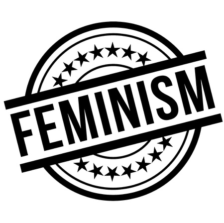 Feminism stamp. Typographic label, stamp or icon
