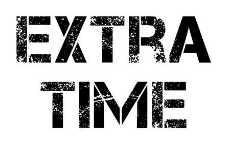 Extra Time stamp. Typographic label, stamp or icon Çizim
