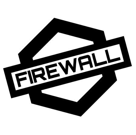 Firewall stamp. Typographic label, stamp Illustration